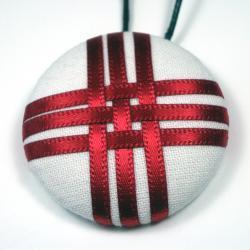 Pendant Necklace - Geisha - Large Button