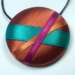 Necklace - Verdigris - Extra Large Button Pendant