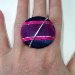 Cocktail Ring - Hydrangea - Extra Large Button